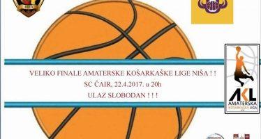 Finale Amaterske košarkaške lige Niša – Neradnički protiv Medveda