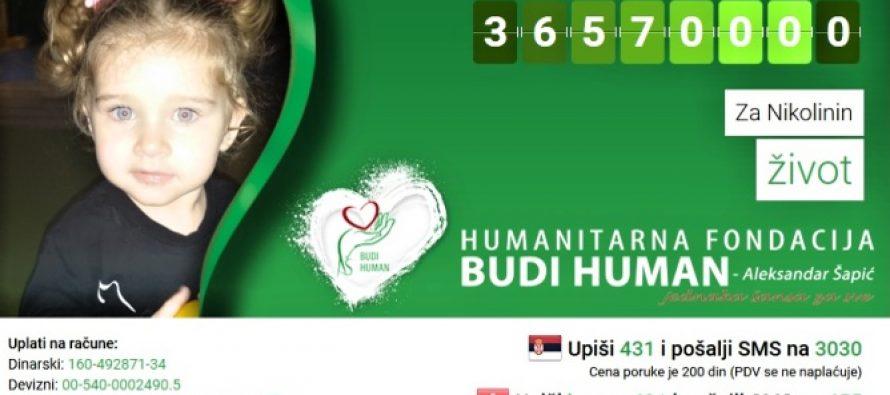 Humanitarne kutije za Nikolinu i na utakmici Nais – Medveščak
