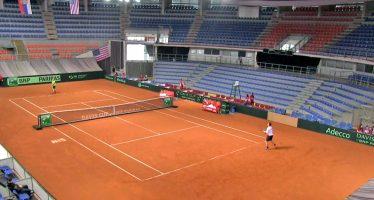 Sve je spremno za duel srpskih i američkih tenisera u Hali Čair (VIDEO)