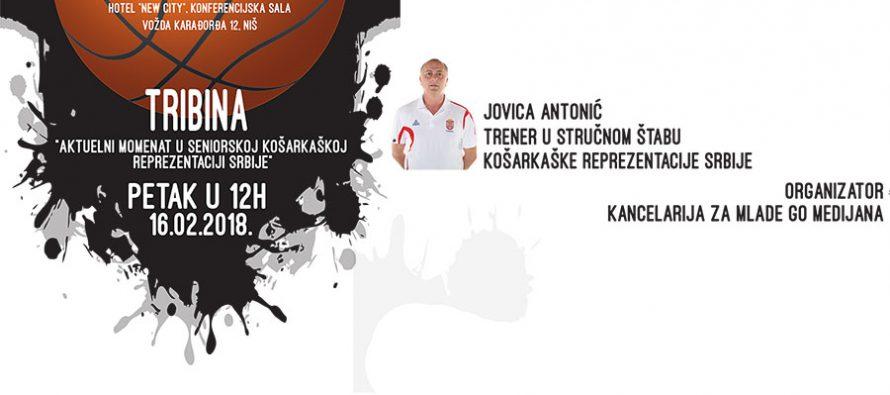 Jovica Antonić na tribini o košarci u Nišu