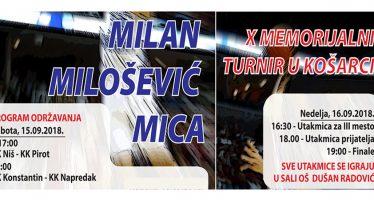 "Deseti Memorijalni turnir ""Milan Milošević Mica"""