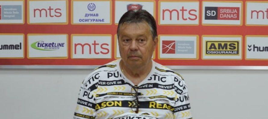 Milorad Kosanović pred meč sa Vojvodinom: Verujem u dobar ishod